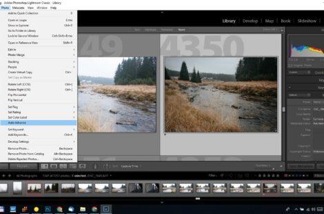 Printscreen z Adobe Lightroom